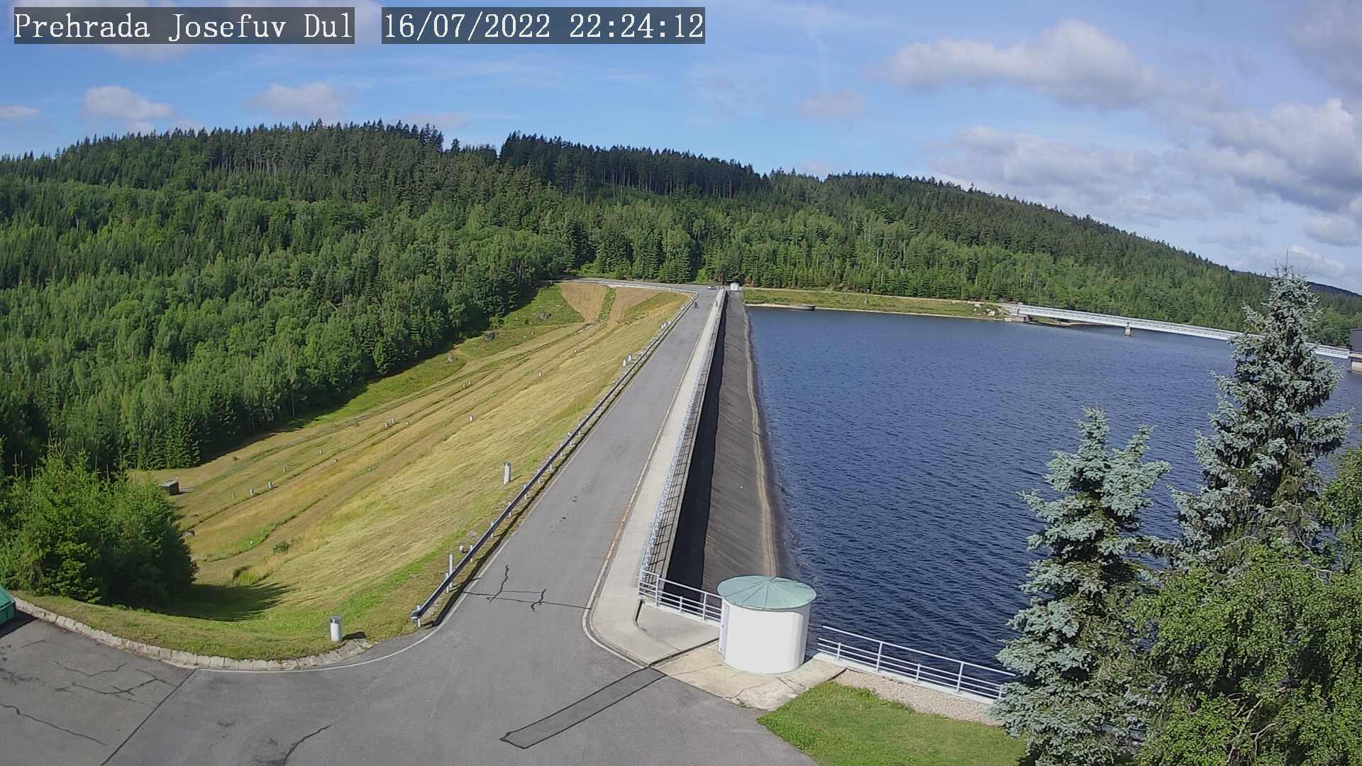 Web kamera Josefův Důl - přehrada.